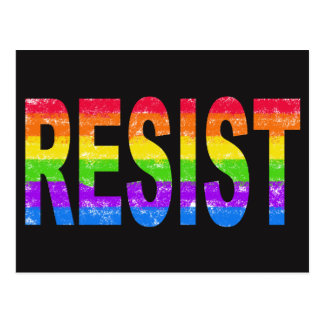 Rainbow Pride Resistance Postcard