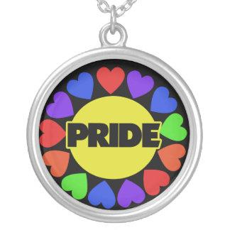Rainbow Pride Round Pendant Necklace