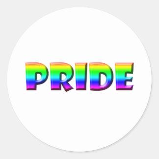 Rainbow PRIDE Round Sticker