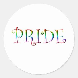 Rainbow PRIDE Round Stickers