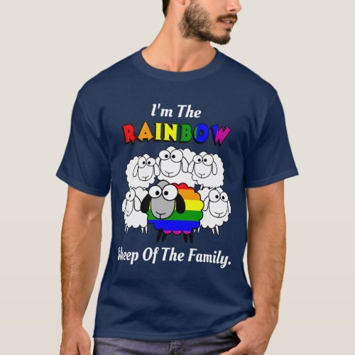 Rainbow Pride Sheep for dark colors T_Shirt