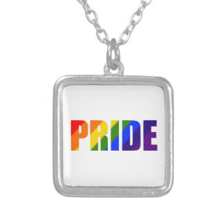 rainbow pride silver plated necklace