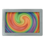 Rainbow Pride Spinning Swirl Belt Buckle