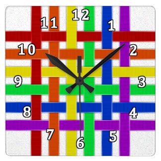 Rainbow Pride Square Wall Clock