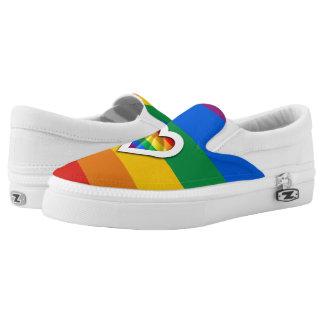 RAINBOW PRIDE STRIPES DESIGN -.png Slip-On Sneakers