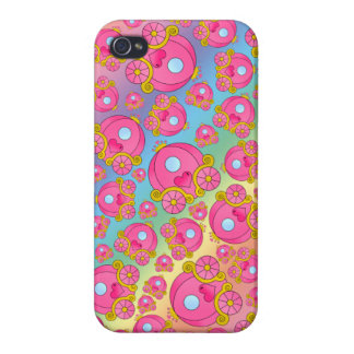 Rainbow princess carriage pattern covers for iPhone 4
