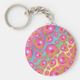 Rainbow princess carriage pattern keychains