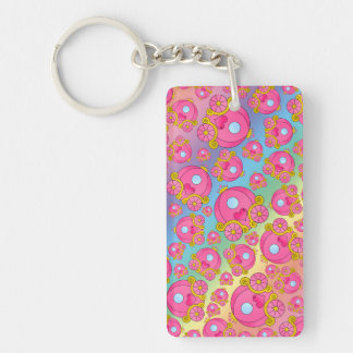 Rainbow princess carriage pattern acrylic keychain