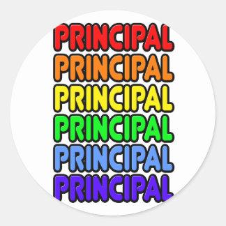 Rainbow Principal Classic Round Sticker