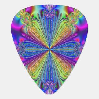 Rainbow Print Guitar Pick