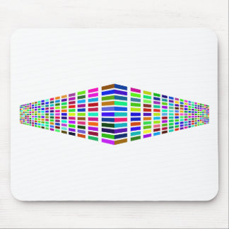 Rainbow Prism Block Art Mouse Pad