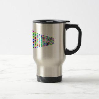 Rainbow Prism Block Art Travel Mug