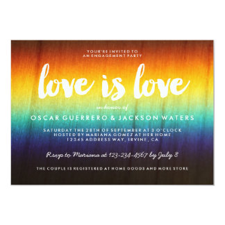 Rainbow Prism Love is Love Gay Party Invitation