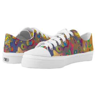 Rainbow prism water drops abstract art Low-Top sneakers