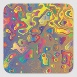 Rainbow prism water drops stickers
