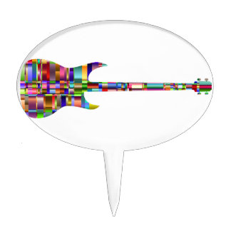 Rainbow Prismatic Guitar Cake Topper