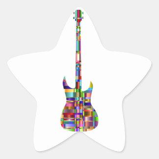 Rainbow Prismatic Guitar Star Sticker