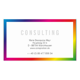 Rainbow Professional Businesscards Business Card