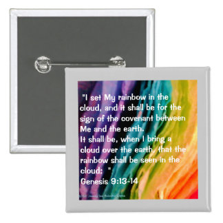 Rainbow Promise 2 Inch Square Button