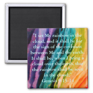 Rainbow Promise 2 Inch Square Magnet