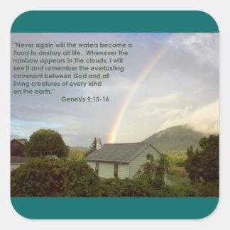 Rainbow Promise Square Stickers