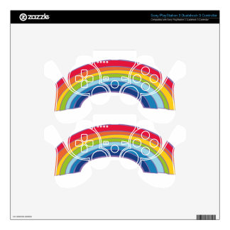 rainbow PS3 controller decal