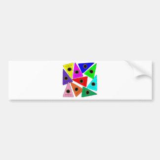 rainbow psaltery bumper sticker