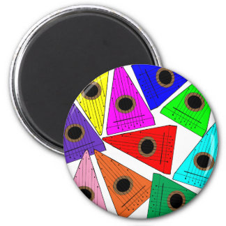 rainbow psaltery magnet