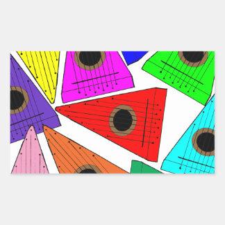rainbow psaltery rectangular sticker