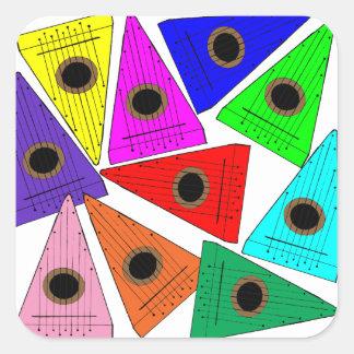 rainbow psaltery square sticker