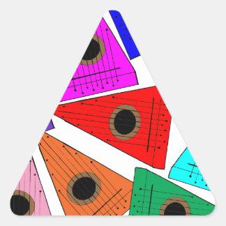 rainbow psaltery triangle sticker