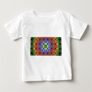 Rainbow Psychedelic Flower Power Geometric Baby T-Shirt