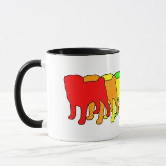 Rainbow Pug Mug