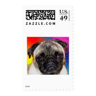 Rainbow Pug Stamp