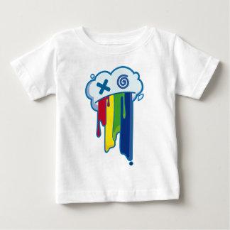 Rainbow Puke Cloud Baby T-Shirt