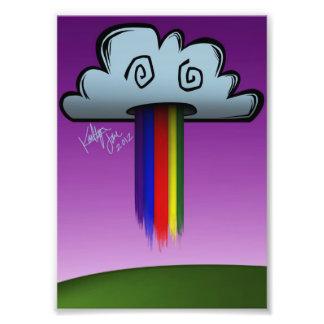 Rainbow Puking Cloud Photo Print