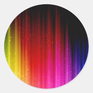 Rainbow Pumped Up Classic Round Sticker