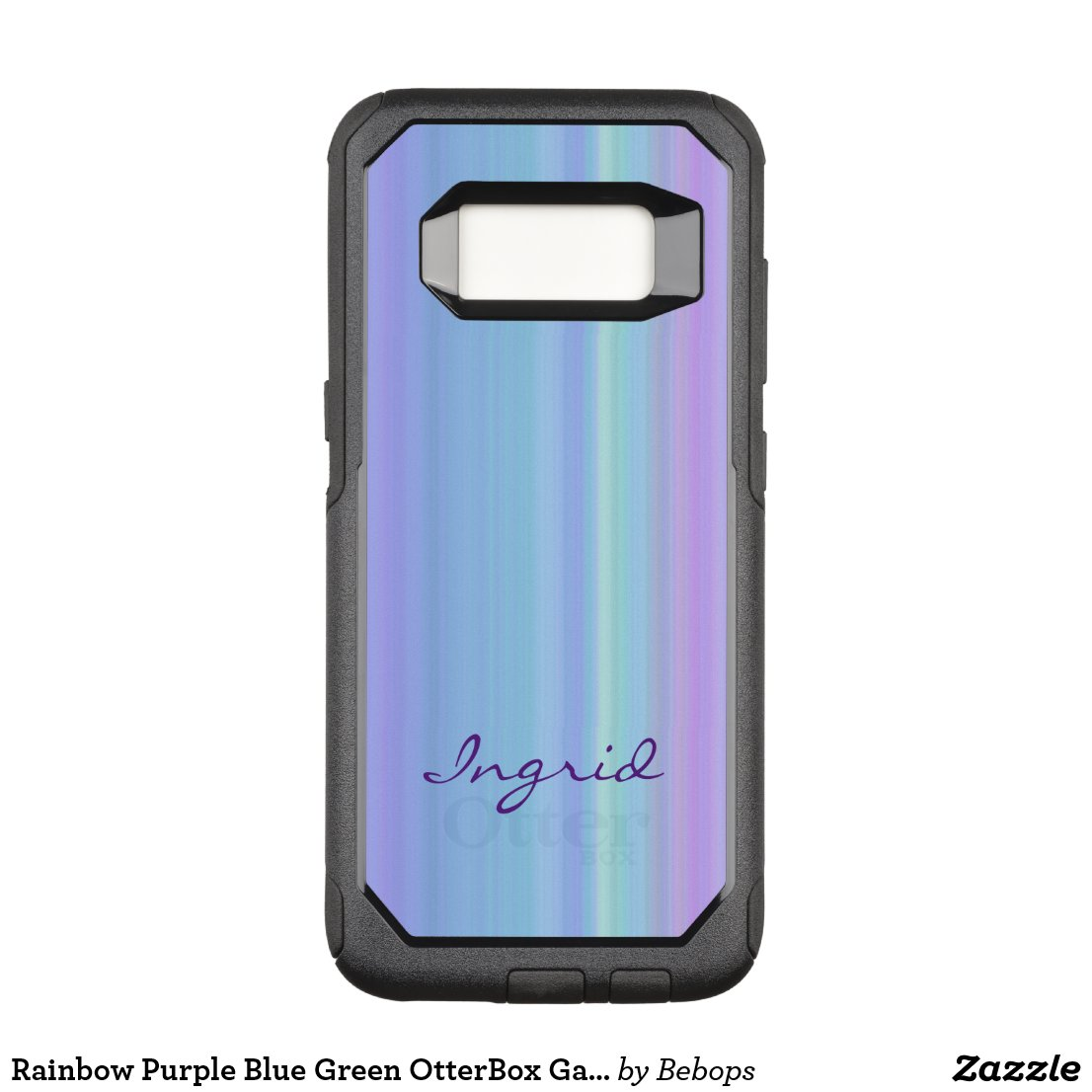 Rainbow Purple Blue Green OtterBox Galaxy S8 Case