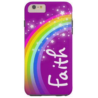 Rainbow purple personalized name iphone case