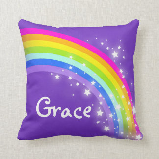 rainbow purple pink daughter named pillow