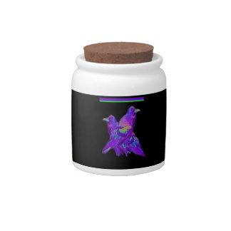 Rainbow Purple Ravens Gifts By Sharles Candy Jar