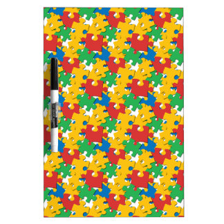 Rainbow Puzzle Pieces Dry-Erase Board