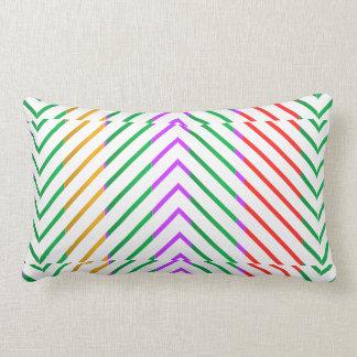 Rainbow Pyramids Lumbar Pillow