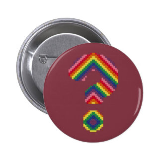 Rainbow Question Mark Pins