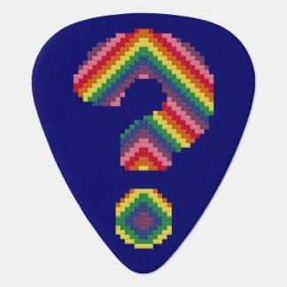 Rainbow Question Mark Guitar Pick