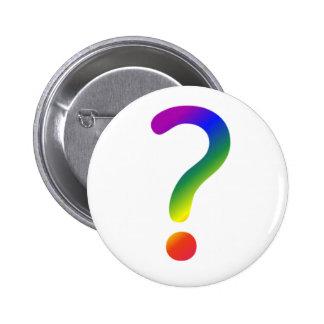 Rainbow question mark pin