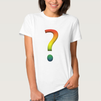 Rainbow question mark t-shirt