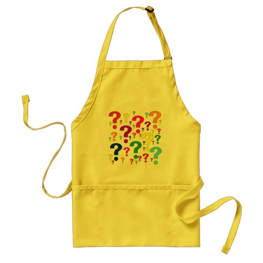 Rainbow Question Marks Adult Apron