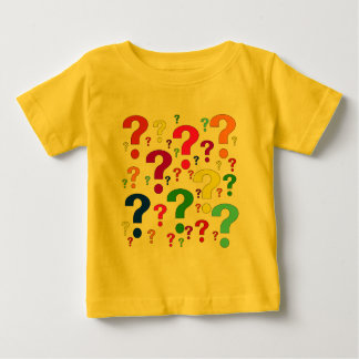 Rainbow Question Marks Baby T-Shirt