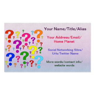 Rainbow Question Marks Business Card